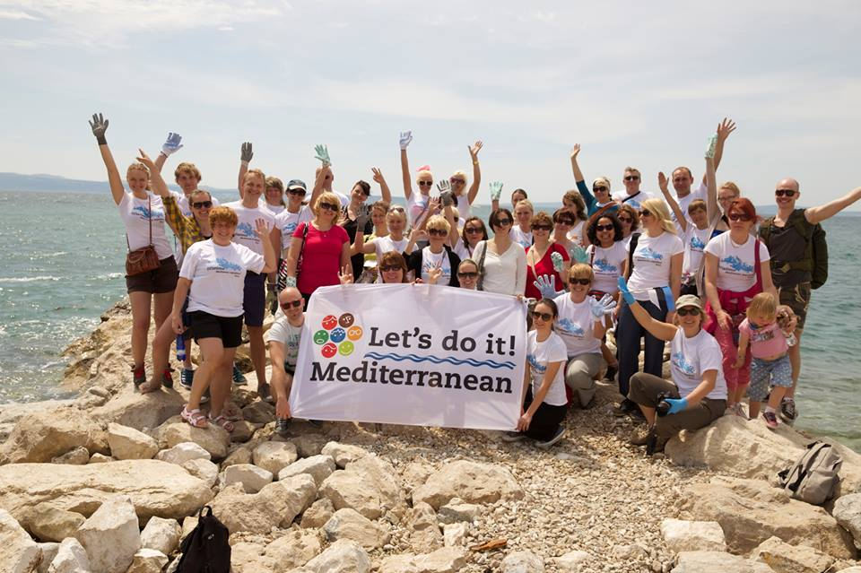Estonians supporting the Mediterranean cleanup in Split, Croatia in 2014.